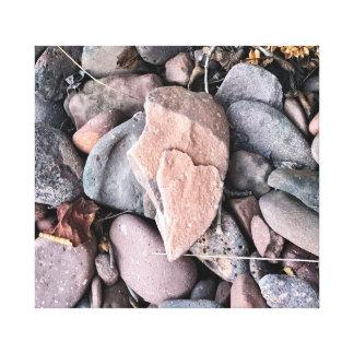 Herz des Steins auf Leinwand