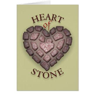 Herz des Steins Grußkarte