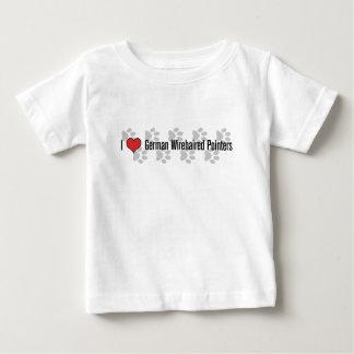 (Herz) deutsche Zeiger des Drahthaar-I Baby T-shirt