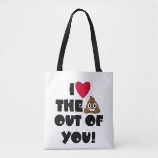 Herz die gekackte Emoji Tasche