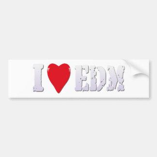 Herz EDM (Verein-solide Musik) - Aufkleber der Mus Autoaufkleber