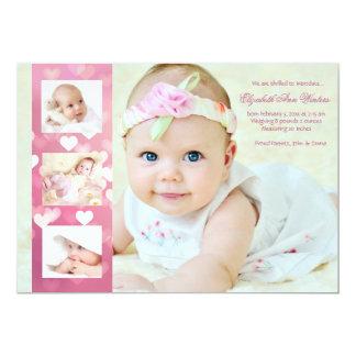 Herz-EIN-Viel - Foto-Geburts-Mitteilung 12,7 X 17,8 Cm Einladungskarte