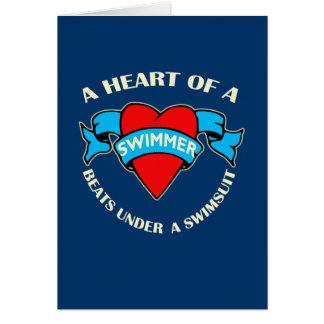 Herz eines Schwimmers Karte