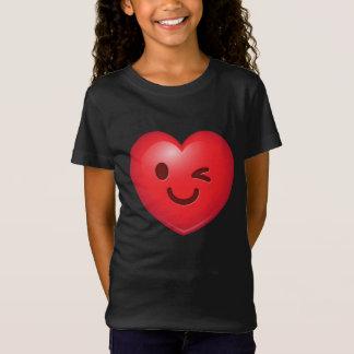 Herz Emoji Blinzeln T-Shirt