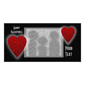 Herz-Entwurf. Der Tag des Valentinsgrußes Karte