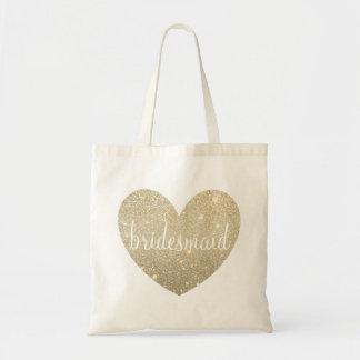 Herz-Fab Brautjungfer der Taschen-Taschen-| - Budget Stoffbeutel