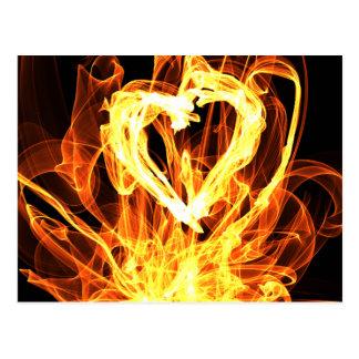 Herz-Feuer Postkarte