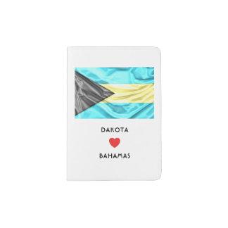 Herz-Flagge der Gewohnheits-I von Bahamas Passhülle