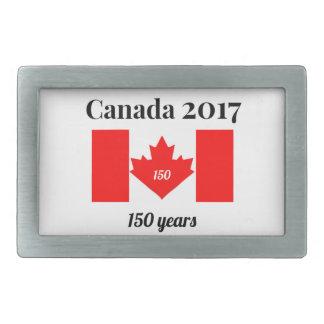Herz-Flagge Kanadas 150 im Jahre 2017 Rechteckige Gürtelschnallen