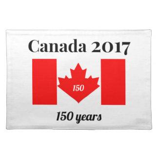 Herz-Flagge Kanadas 150 im Jahre 2017 Tischset