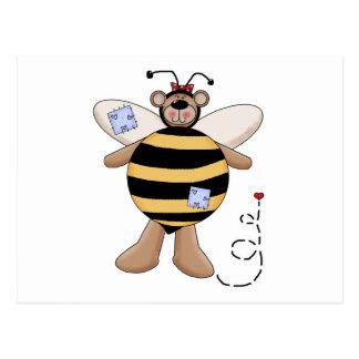 Herz-Flecken-Hummel-Bienen-Bär Postkarte