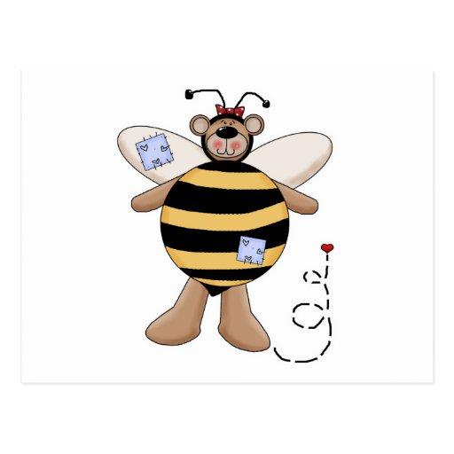 Herz-Flecken-Hummel-Bienen-Bär Postkarten