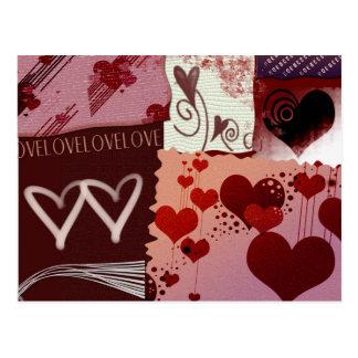 Herz-Flecken Postkarte