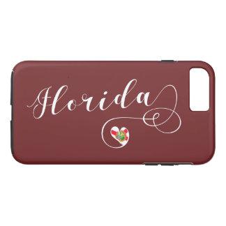 Herz-Florida-Handy-Fall, Florida iPhone 8 Plus/7 Plus Hülle
