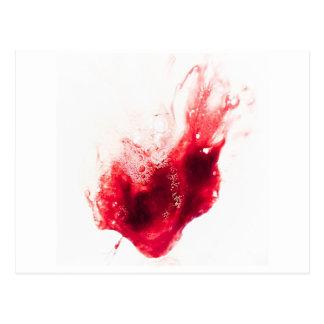 Herz-Form-Blut-Spritzer Postkarte