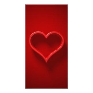 Herz-Form mit Licht und Schatten - Einladung lang