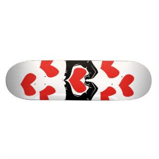 Herz-Form übergibt Illustration mit roten Herzen 20,1 Cm Skateboard Deck