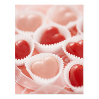 Herz-förmige Süßigkeiten Postkarte