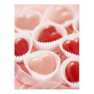 Herz-förmige Süßigkeiten Postkarten