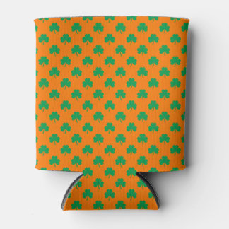 Herz-Förmiges Kleeblatt-Grün auf orange St Patrick Dosenkühler