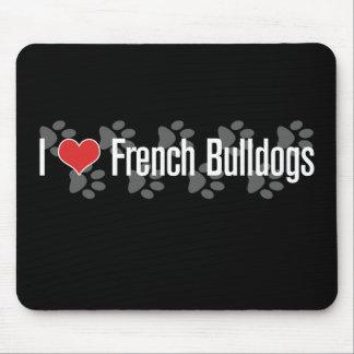 (Herz) französische Bulldoggen I Mousepad