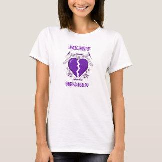 Herz gebrochen: Damen-Weiß-T - Shirt