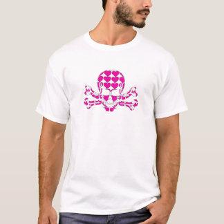 Herz-gefüllter Schädel T-Shirt