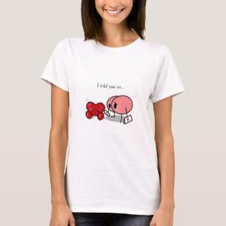 Herz gegen Gehirn T-Shirt
