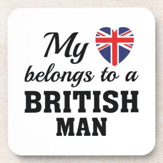 Herz gehört Briten Untersetzer