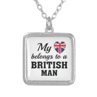 Herz gehört Briten Versilberte Kette