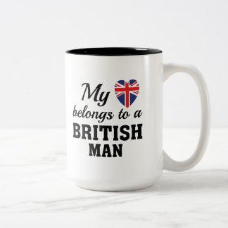 Herz gehört Briten Zweifarbige Tasse