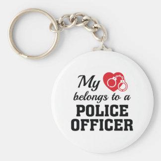 Herz gehört Polizeibeamte Schlüsselanhänger