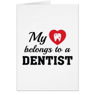 Herz gehört Zahnarzt Grußkarte