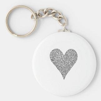 Herz, gemacht von den Gesichtern Standard Runder Schlüsselanhänger