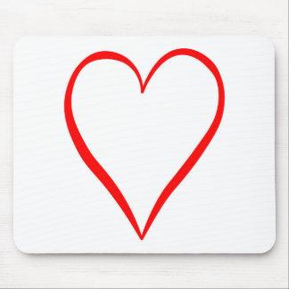 Herz gemalt auf weißem Hintergrund Mousepad