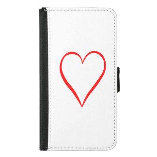 Herz gemalt auf weißem Hintergrund Samsung Galaxy S5 Geldbeutel Hülle