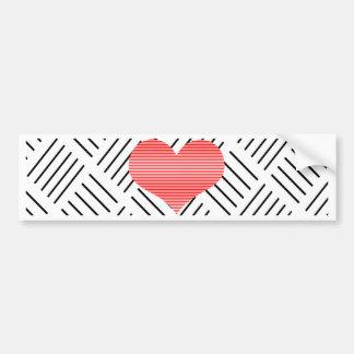 Herz - geometrisches Muster - Schwarzes Autoaufkleber