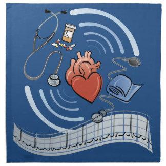 Herz-Gesundheit Stoffserviette