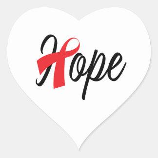 Herz-Gesundheits-rotes Band-Bewusstsein Herz-Aufkleber