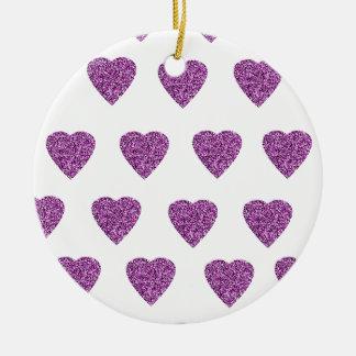 Herz Glitzer pink rosa Keramik Ornament