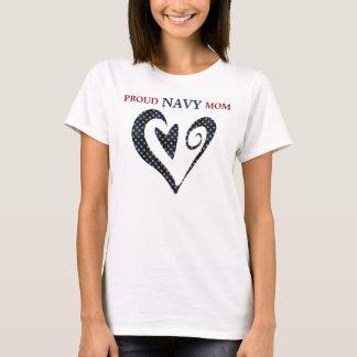 Herz-Goldstern-Marine-Mamma T-Shirt