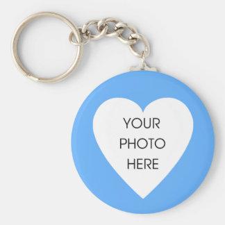 Herz-GrenzeKeychain Schablone - Baby-Blau Schlüsselanhänger