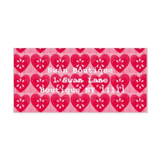 Herz-Gummi-Briefmarke Permastempel