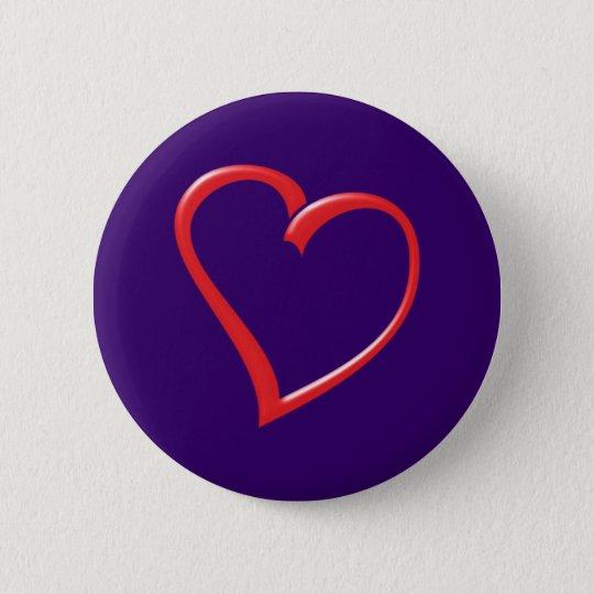 Herz heart runder button 5,1 cm
