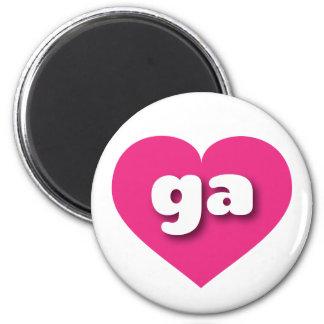 Herz heißen Rosas Georgia - MiniLiebe Runder Magnet 5,7 Cm