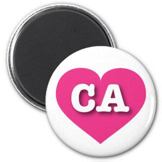 Herz heißen Rosas Kaliforniens - große Liebe Runder Magnet 5,1 Cm
