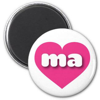 Herz heißen Rosas Massachusetts - MiniLiebe Runder Magnet 5,7 Cm