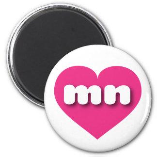 Herz heißen Rosas Minnesotas - MiniLiebe Runder Magnet 5,1 Cm