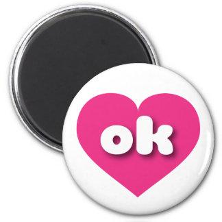 Herz heißen Rosas Oklahomas - MiniLiebe Runder Magnet 5,7 Cm