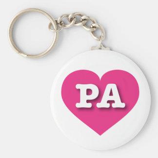 Herz heißen Rosas Pennsylvanias - große Liebe Schlüsselanhänger